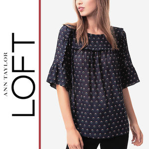 Loft |  'Budding Ruffle Trim' Top